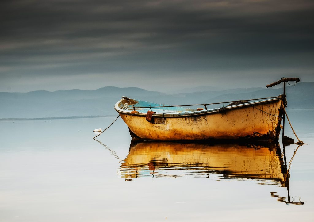 empty boat on still water
